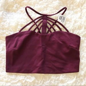 Forever 21 Burgundy Crop Top